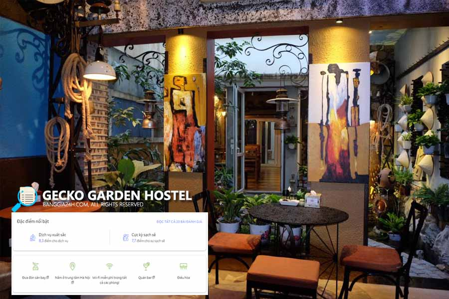 Gecko Garden Hostel - Homestay phố cổ Hà Nội giá rẻ