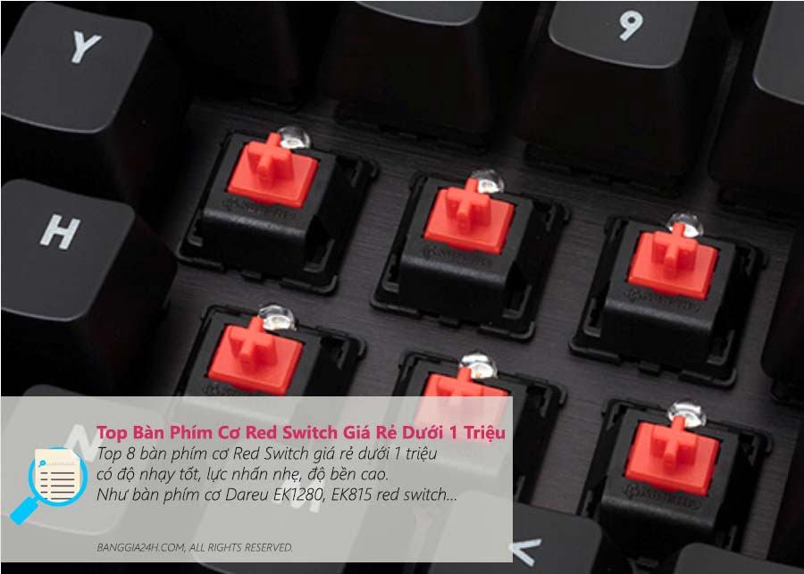Bàn Phím Cơ Red Switch Giá Rẻ