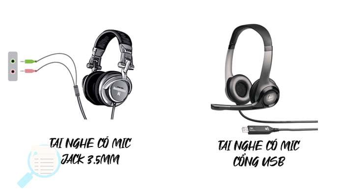 tai nghe có mic cổng USB và JACK 3.5mm
