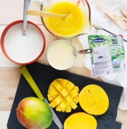 nguyên liệu làm kem xoài sữa chua đơn giản
