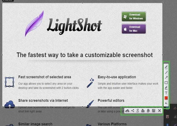 Cách chụp màn hình máy tính với Lightshot