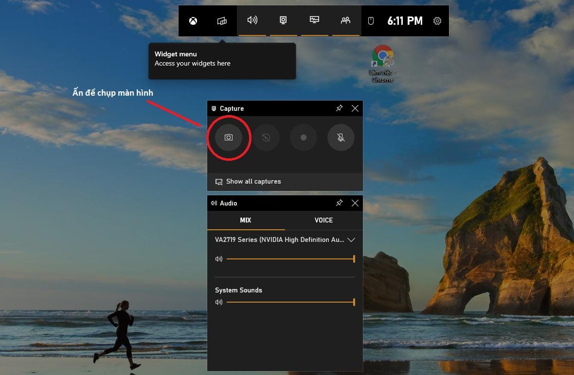 chụp màn hình máy tính win 10 với gamebar