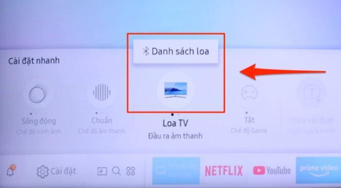 hướng dẫn kết nối loa với tivi samsung bằng Bluetooth bước 4