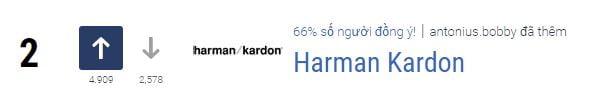 Loa Harman Kardon xếp hạng 2
