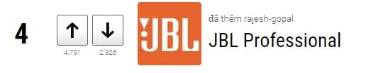 thương hiệu loa JBL Professional xếp hạng 4